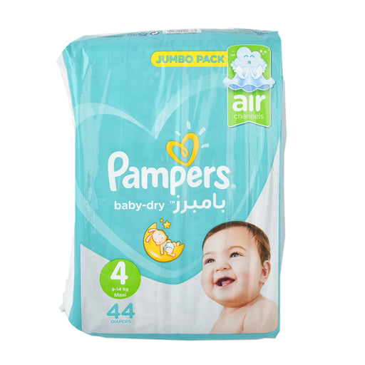 Pampers Diapers #4 Value Pack Large 44''S