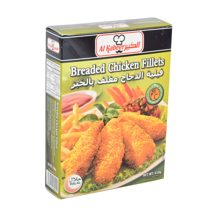 Al Kabeer Breaded Chicken Fillet 450gm