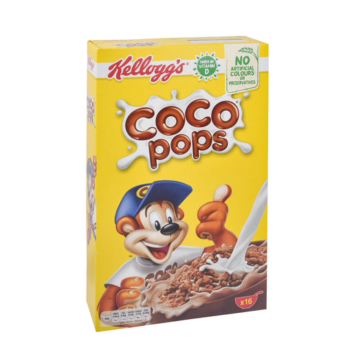 Kelloggs Choco Pops Cereal 500Grm