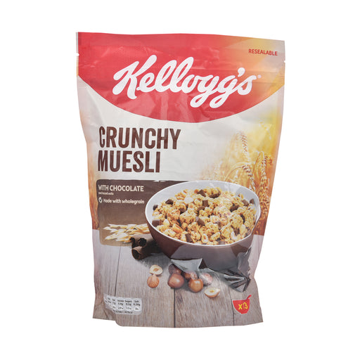 Kelloggs Crunchy Muesli With Chocolate & Hazelnut 600Grm