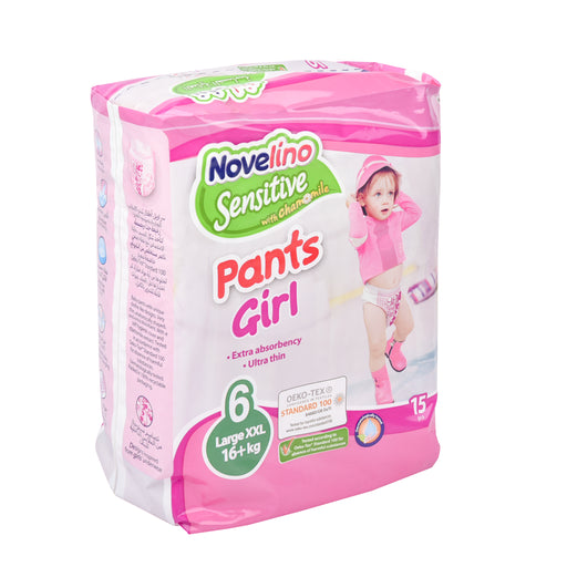 Novelino Diapers Sensitive.Pants Girl #6 L Xxl 15
