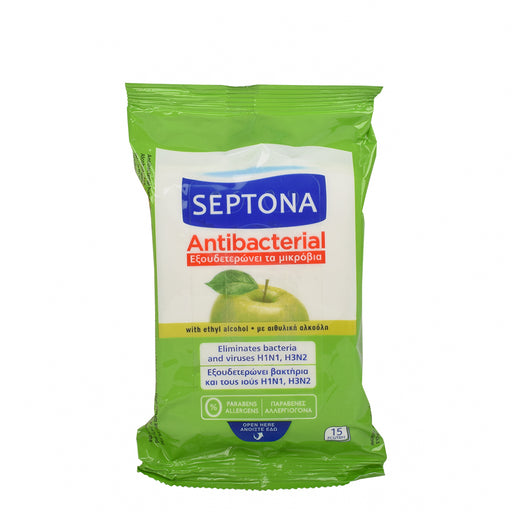 Septona Refreshing Anti Bacterial Wet Napkins 15''S