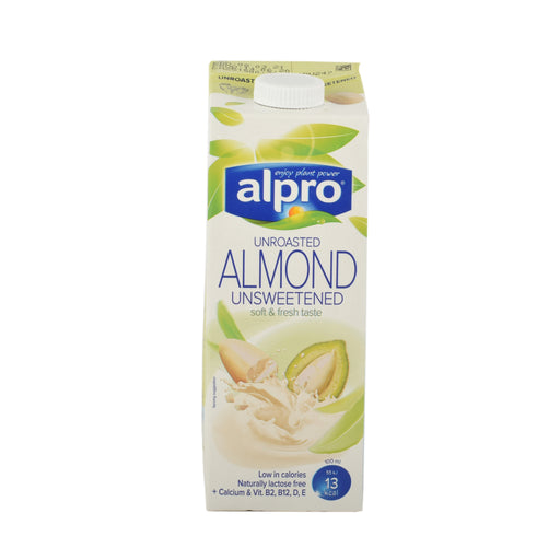 Alpro Unroasted Almond Drink Unsweetened 1Ltr