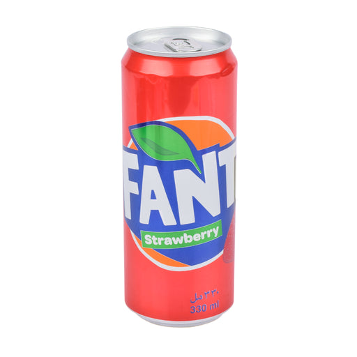 Fanta Carbonated Soft Drink Strawberry 330 Ml