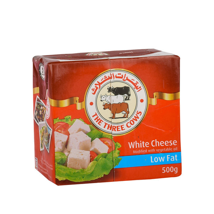 3 COWS Feta Cheese Low Fat 500Gm