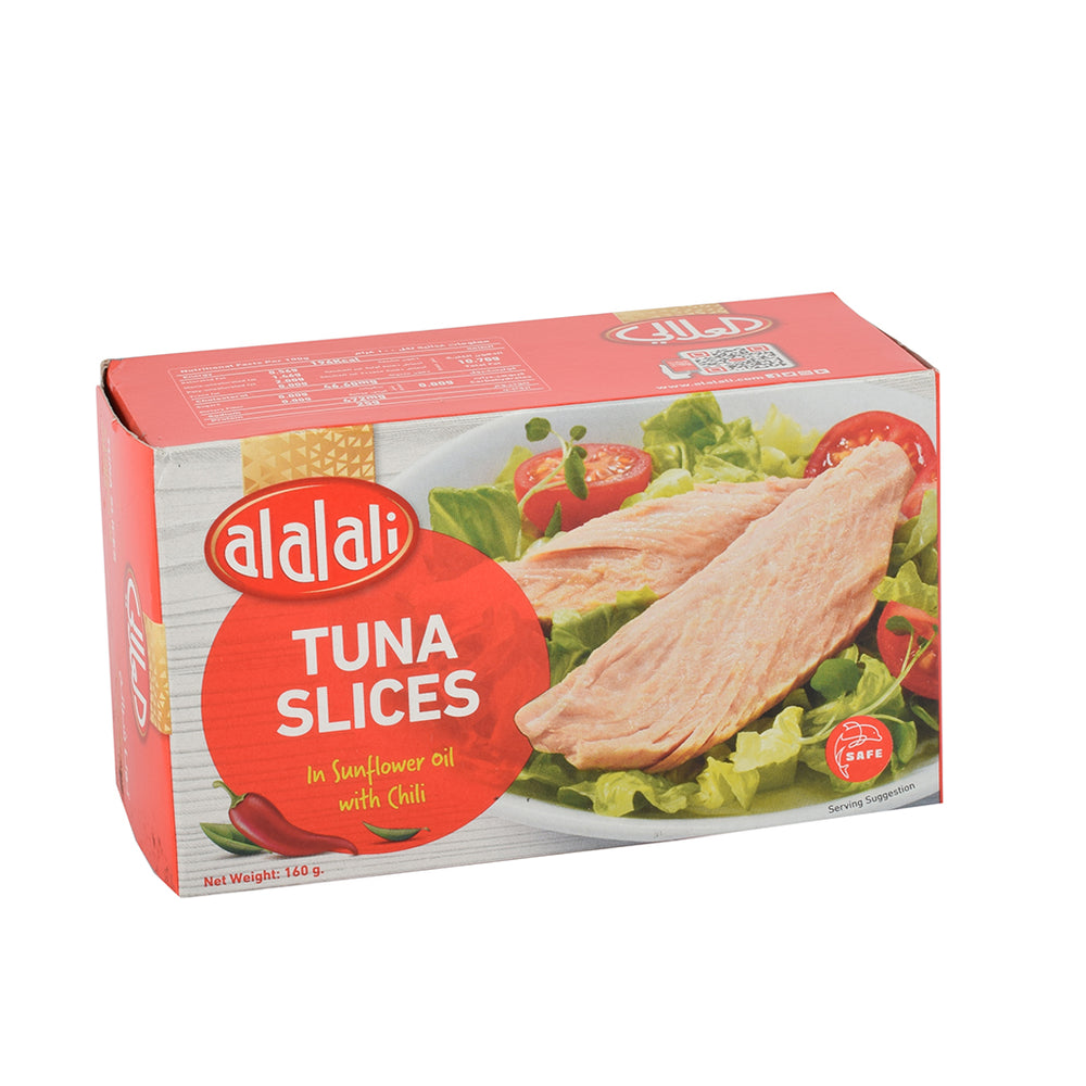 Al Alali White Tuna Slices With Chilli Sunflower 160grm