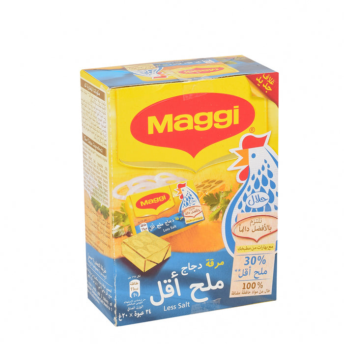 Maggi Chicken Stock Cube Less Salt 20gm