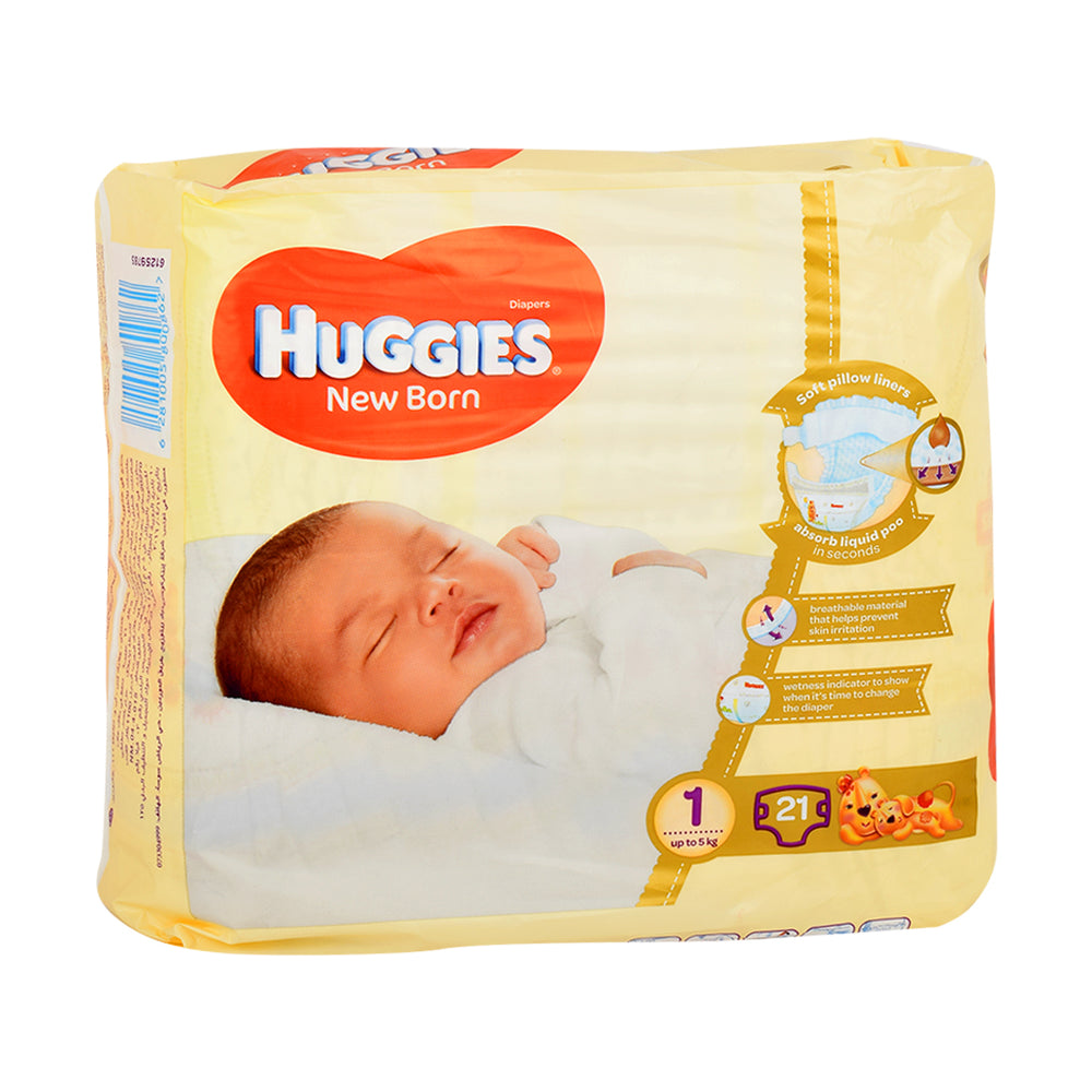 Huggies Baby Diapers New Born Organic 21'S