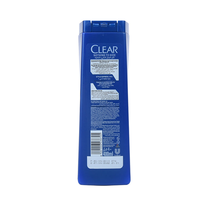 Clear Shampoo Men  Anti Dandruff  Style Express 400Ml