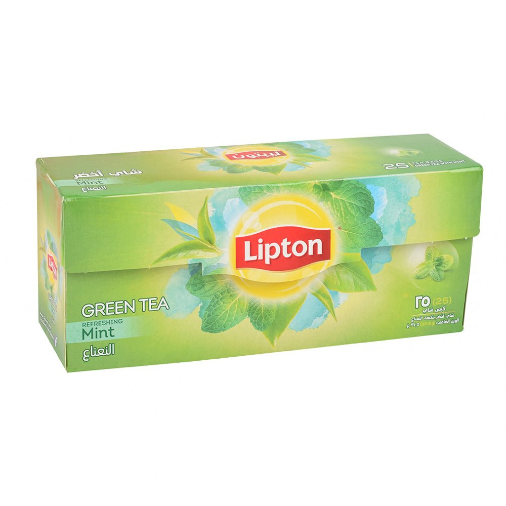 Lipton Clear Green Tea With Mint Tea Bags 25 Tea Bags