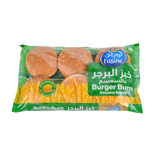 L'Usine Burger Buns Sesame 67Grm X 6Pieces