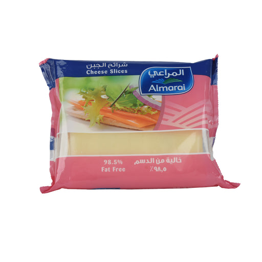 Almarai Cheddar Cheese Slice Fat Free 200gm