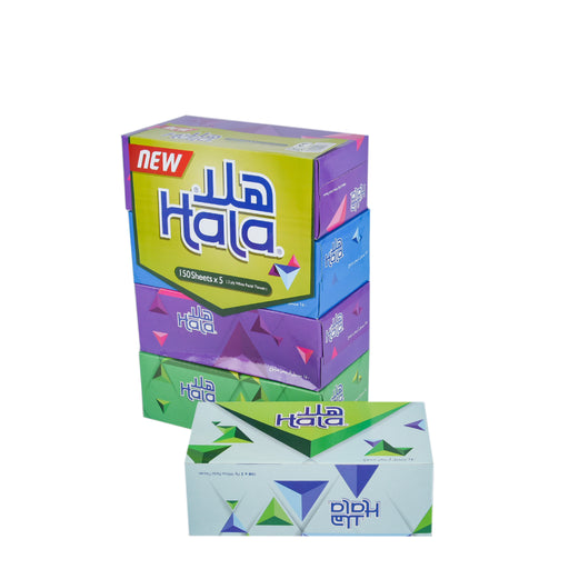 Hala Soft Facial Tissue 150''Sx2Ply