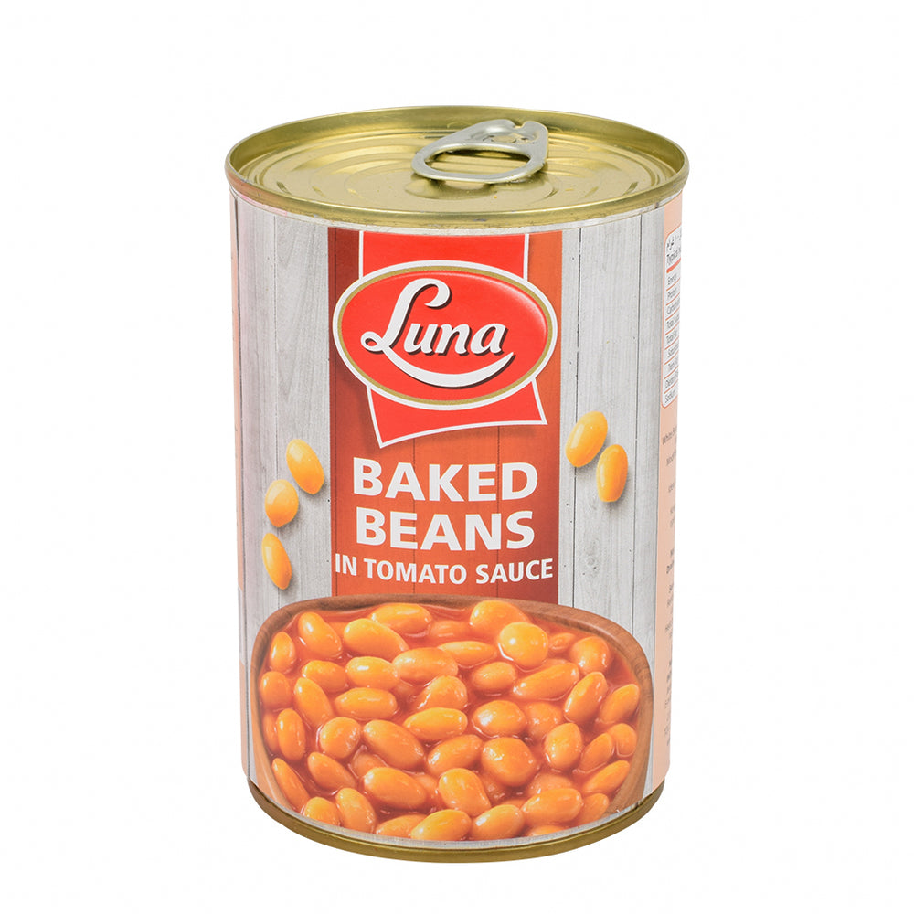 Luna Baked Beans In Tomato Sauce 400gm