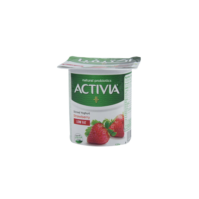 Activia Stirred Yoghurt Strawberry Light 120gm