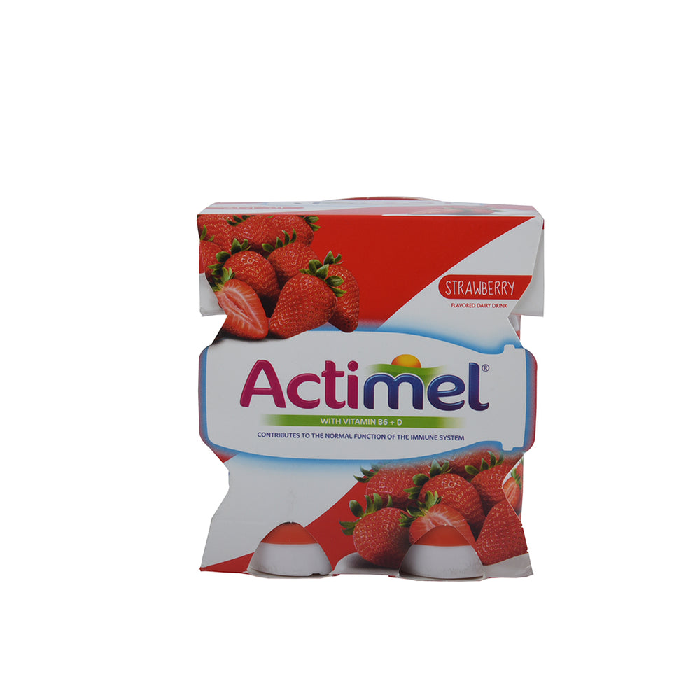 Actimel Strawberry Drink 4x93ml