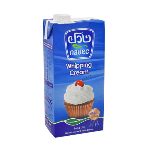 Nadec Whipping Cream Tetra Pack 1Ltr