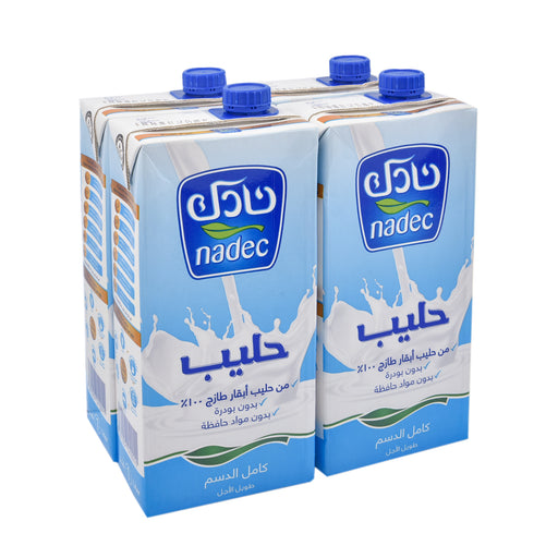 Nadec UHT Milk Full Cream 1Ltr