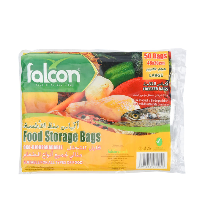 Falcon Food Storage Bags Small 36X15Cm 50''S