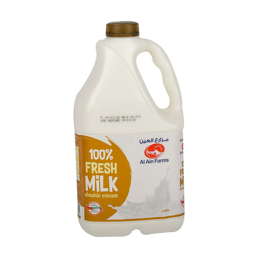 Al Ain Fresh Milk Double Cream 2Ltr