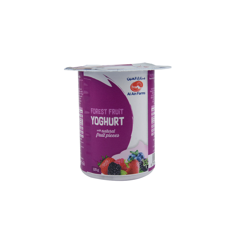 Al Ain Fresh Yoghurt Fruits of the Forest 125gm