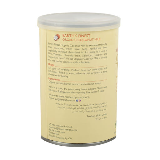 Earth`s Finest Organc Coconut Milk 400ml