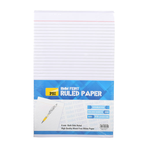 Psi Ruled Paper Double Foolscape Without Margin 200