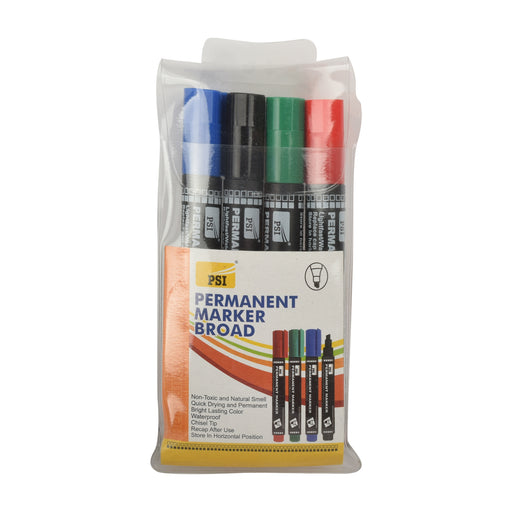 Psi Permanent Marker Broad 4Colors MRPB/4