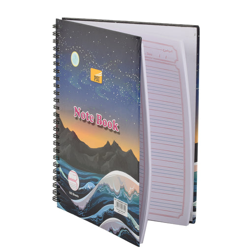Psi Spiral Hardcover Notebook B5 4Line With Border 100Sheets
