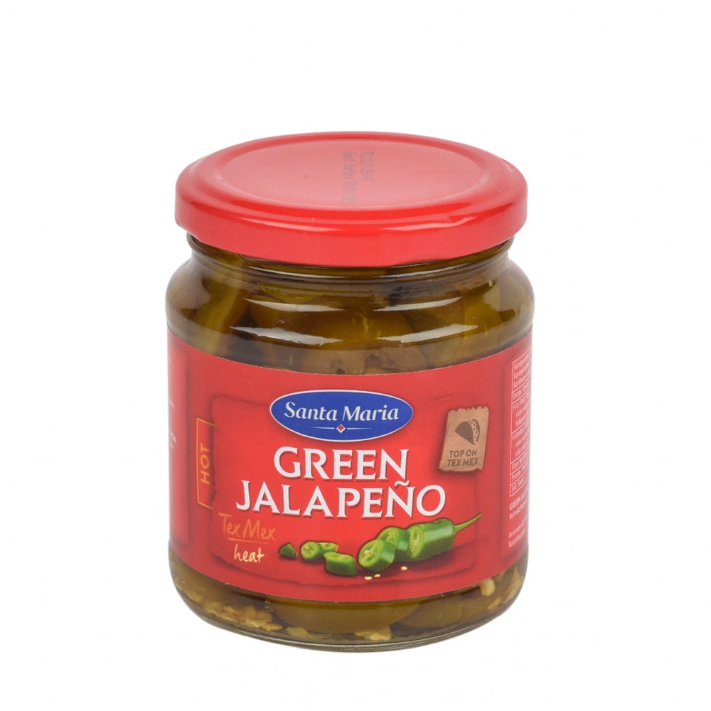 Santa Maria Jalapeno Pepper Sliced Green Hot 215g