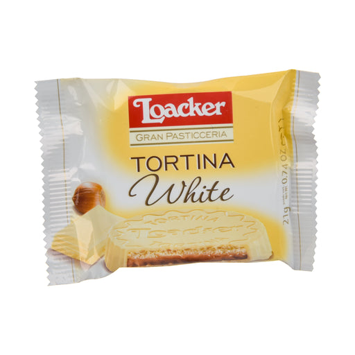 Loacker Wafer Biscuit Tortina White 21Grm
