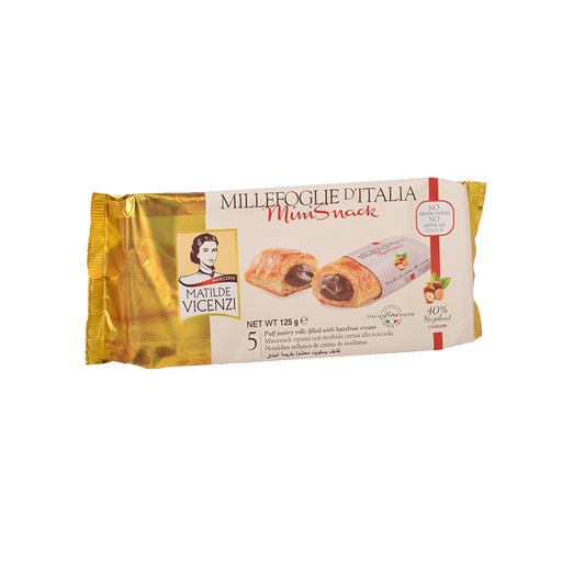 Vicenzi Puff Pastry Roll With Hazelnut Cream 125Grm