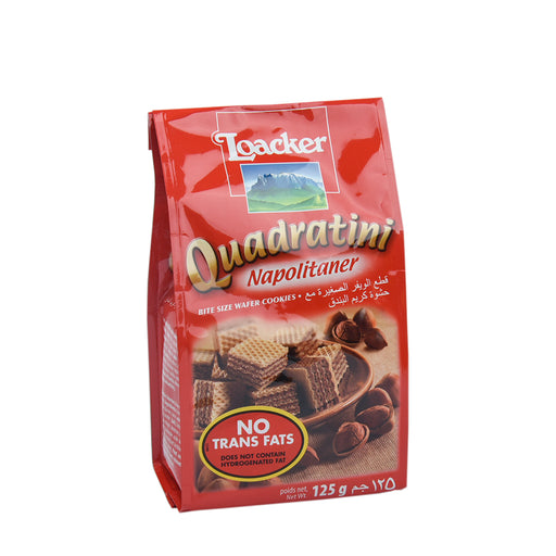 Loacker Quadratini Napolitaner Wafer Biscuit 125Gm