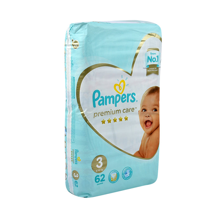 Pampers Diapers #3 Midi Premium Care 5 Star Value Pack 62'S