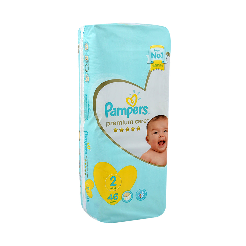 Pampers Diapers #2 Newborn Premium Care 5 Star 46''S