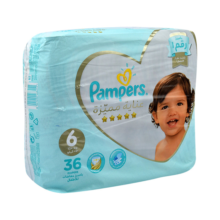 Pampers Diapers #6 Xxl Premium Care 5 Star Value Pack 36''S
