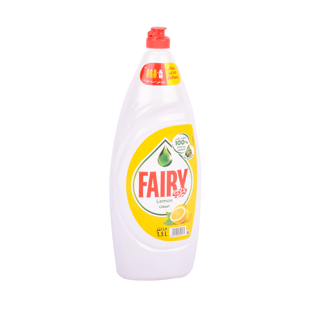 Fairy Dishwash Liquid Lemon Lift Action 1.5L