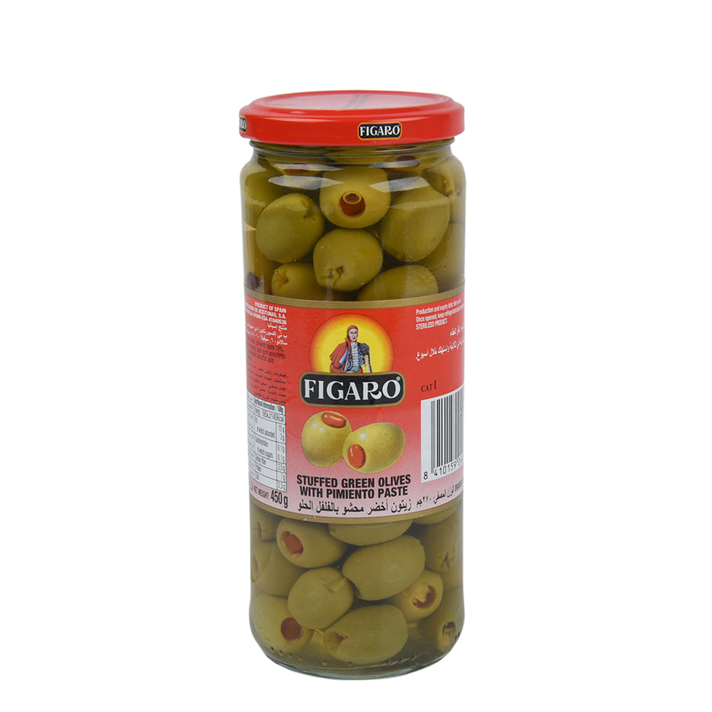 Figaro Stuffed Green Olives 450gm