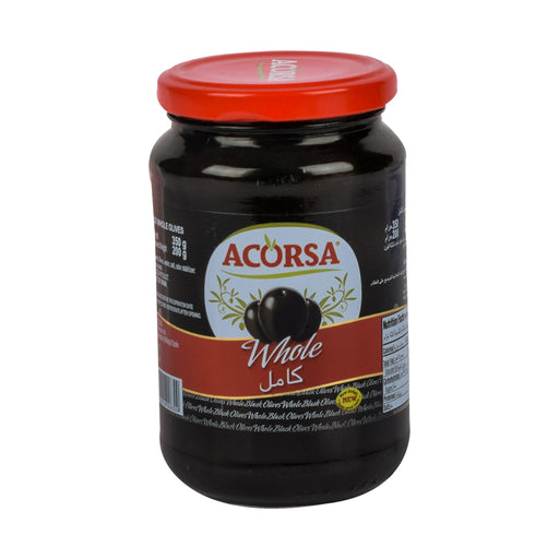 Acorsa Black Olives Plain 350grm