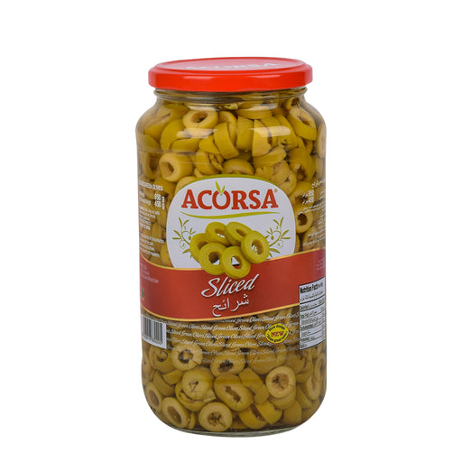 Acorsa Green Olives Sliced 450grm