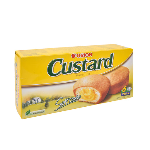 Orion Premium Custard Soft Cake 138Gm X 6Pieces