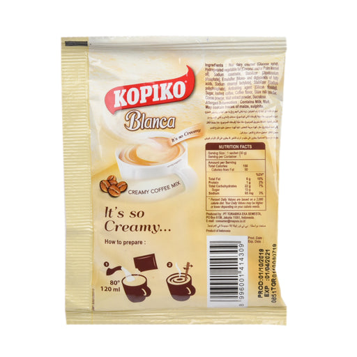 Kopiko Blanca Creamy Coffee Mix 30Grm