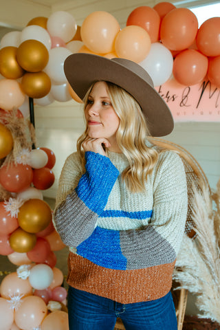 Ellington Blue and Rust Sweater