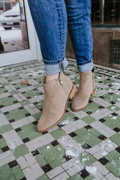 Bailey Taupe Booties