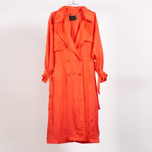 Load image into Gallery viewer, Red Peterman Trench Coat (size 0,1 & 3)