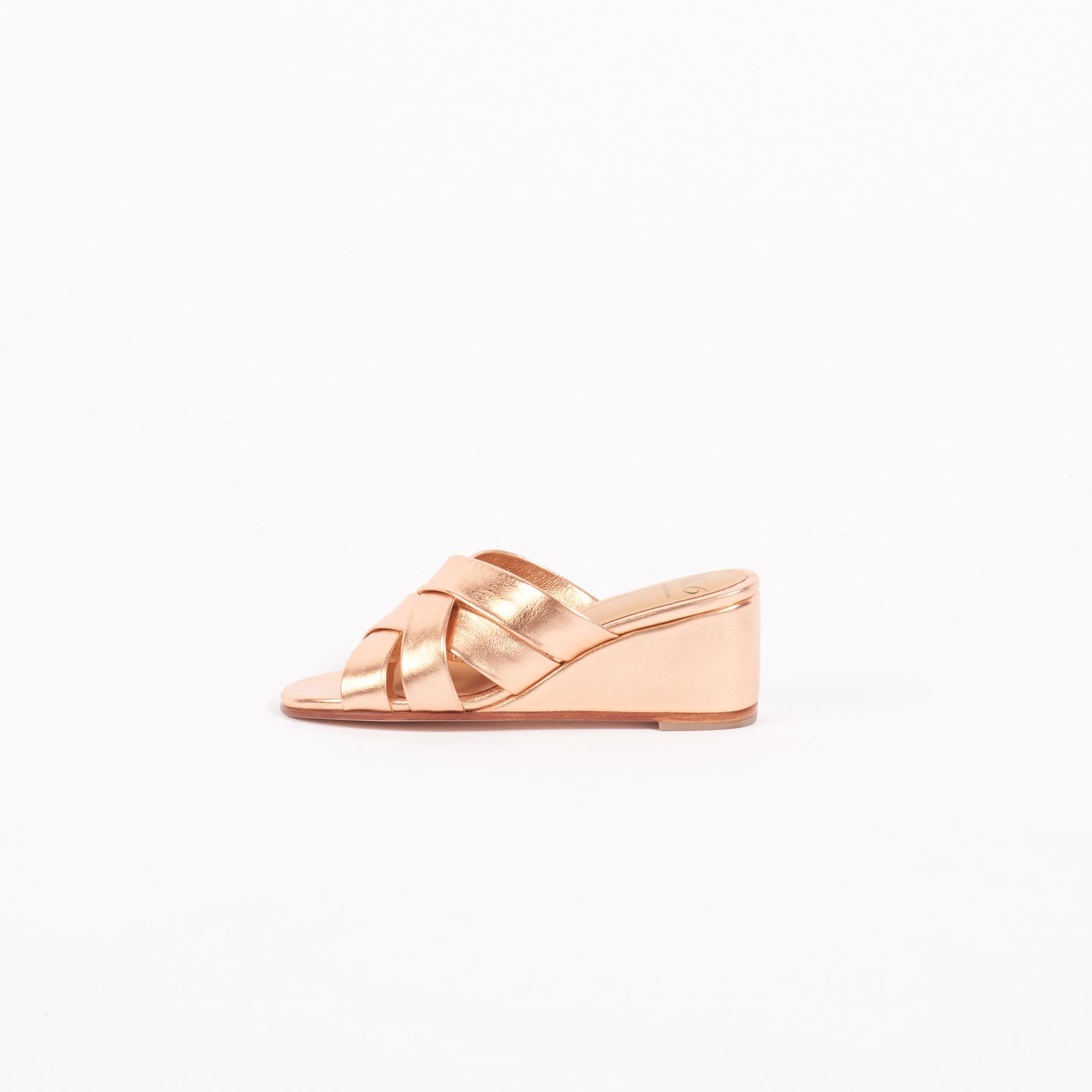 Rose Gold Orlando Woven Wedge (6)