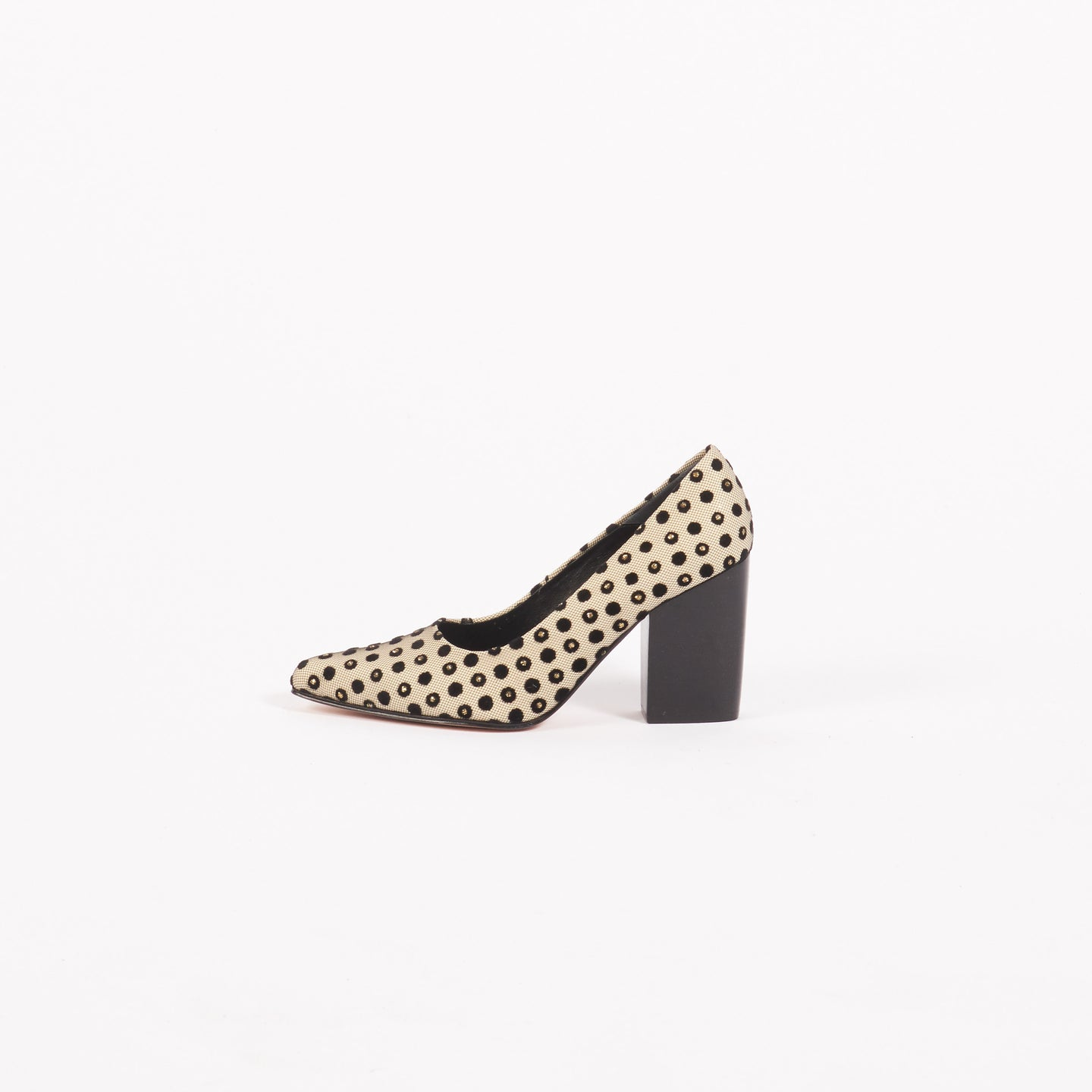 Black Polka Dot Kahn Heel (7.5/9.5/10/11)