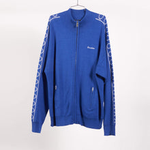 Load image into Gallery viewer, Blue Time-Cut Jersey Track Jacket (Size L, XL)