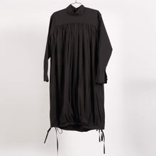 Load image into Gallery viewer, Black Foulard Dress (Size 34 & 38)