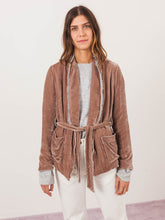 Load image into Gallery viewer, Mink Belted Blazer (1=S/2=M/3=L)